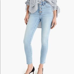 """J.Crew 9"""" high-rise toothpick jean in Leddy wash"""